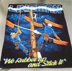 Lineman T-Shirt  - Rubber Up and Stick It 